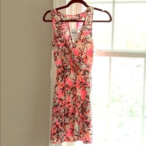 LUSH hot pink / black summer dress - NWT - XS
